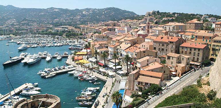 The citadel of Calvi on Corsica isalnd