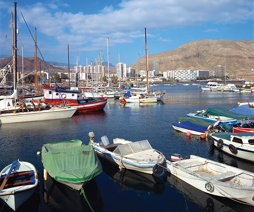 Los Cristianos harbor in Tenerife, Canary Islands
